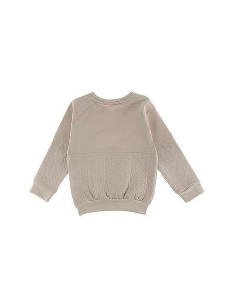 تی شرت نخی یقه گرد پسرانه - کرم - 2
