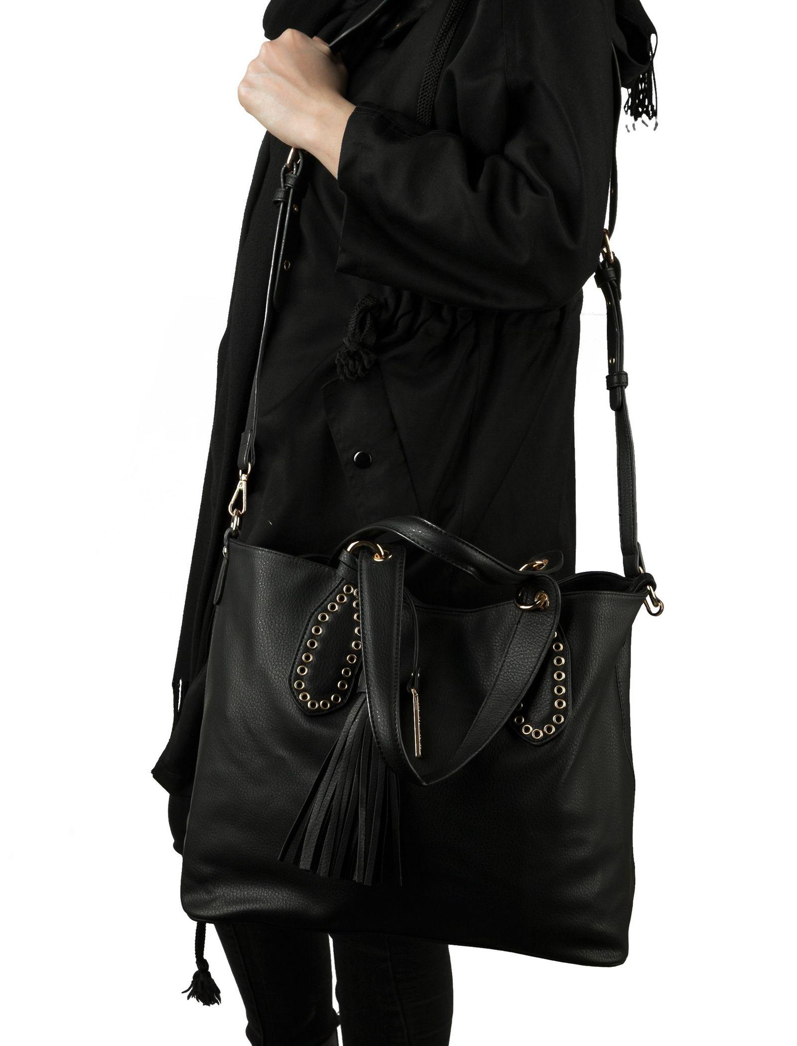 کیف دوشی روزمره زنانه - شانتال تک سایز - مشکي - 2