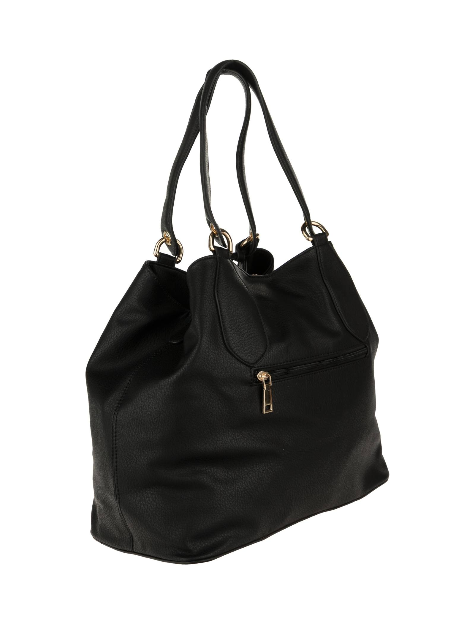 کیف دوشی روزمره زنانه - شانتال تک سایز - مشکي - 4