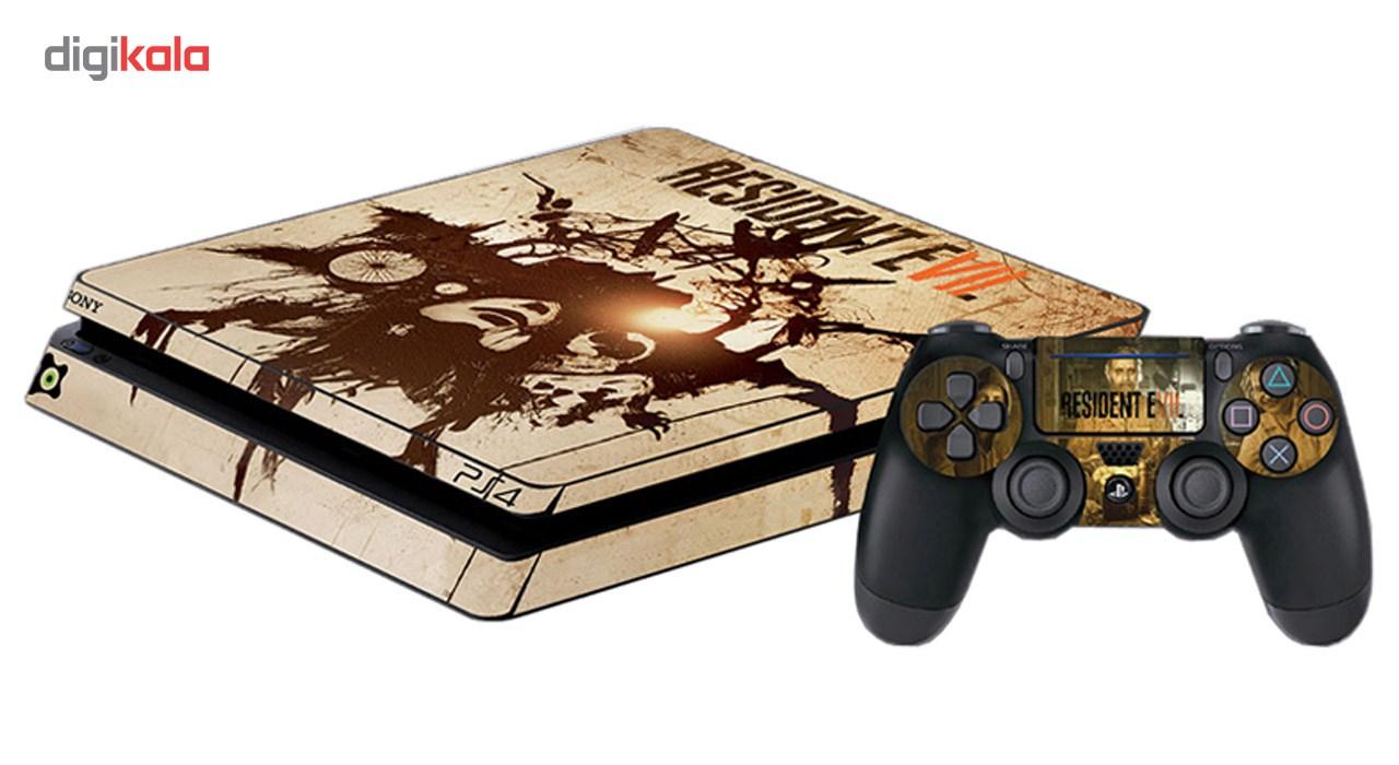 برچسب پلی استیشن 4 اسلیم آی گیمر طرح Resident Evil