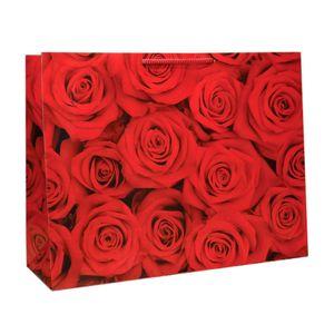 پاکت هدیه افقی طرح گل رز
