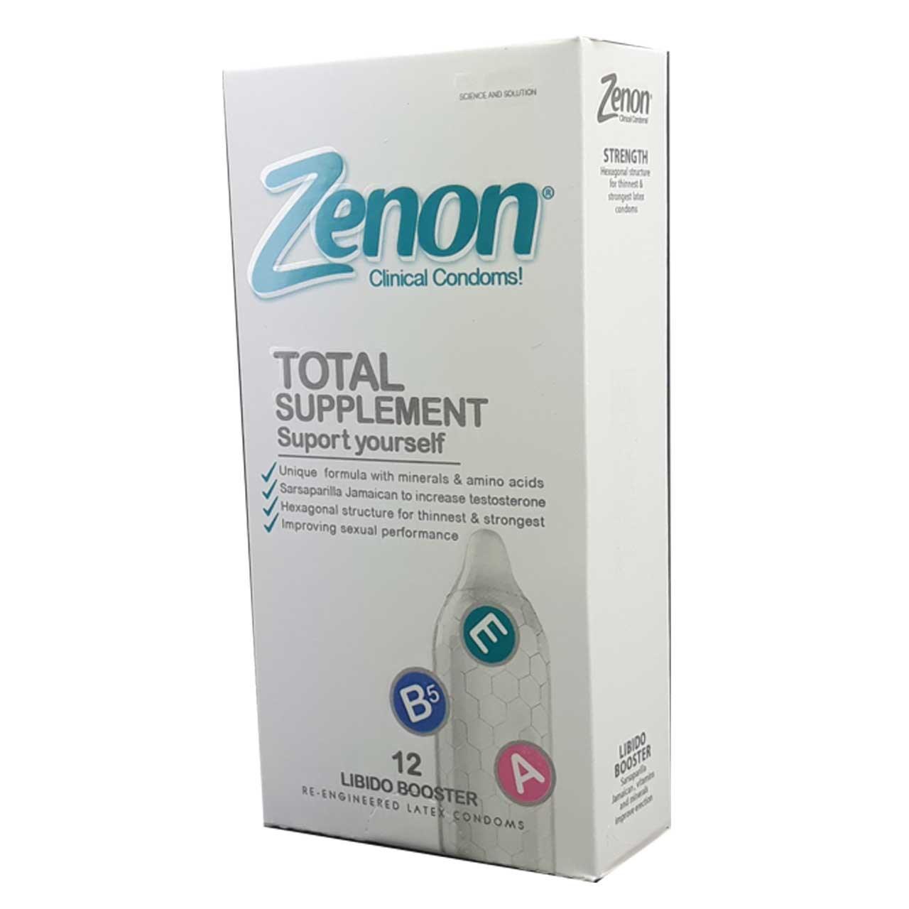 کاندوم زنون مدل Total Suplement بسته 12 عددی