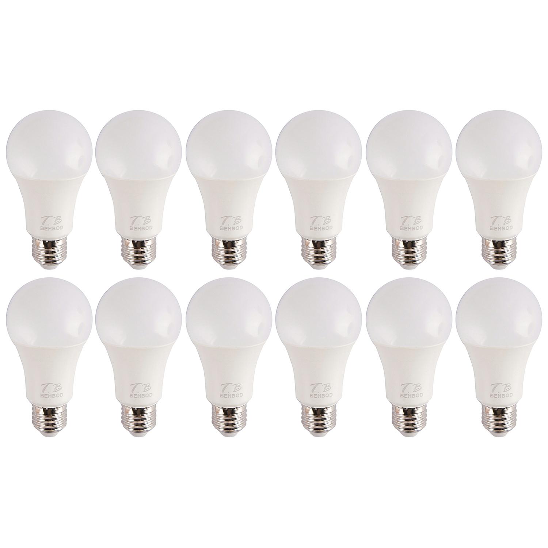 لامپ ال ای دی 12 وات بهبد مدل A99 پایه E27 بسته 12 عددی