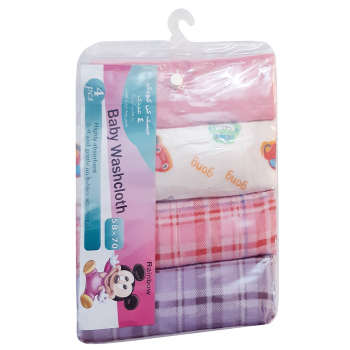 خشک کن کودک رینبو مدل GirlWashcloth بسته 4 عددی