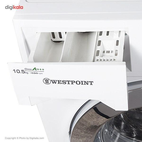 ماشین لباسشویی وست پوینت مدل WMN101215ER ظرفیت 10.5 کیلوگرم