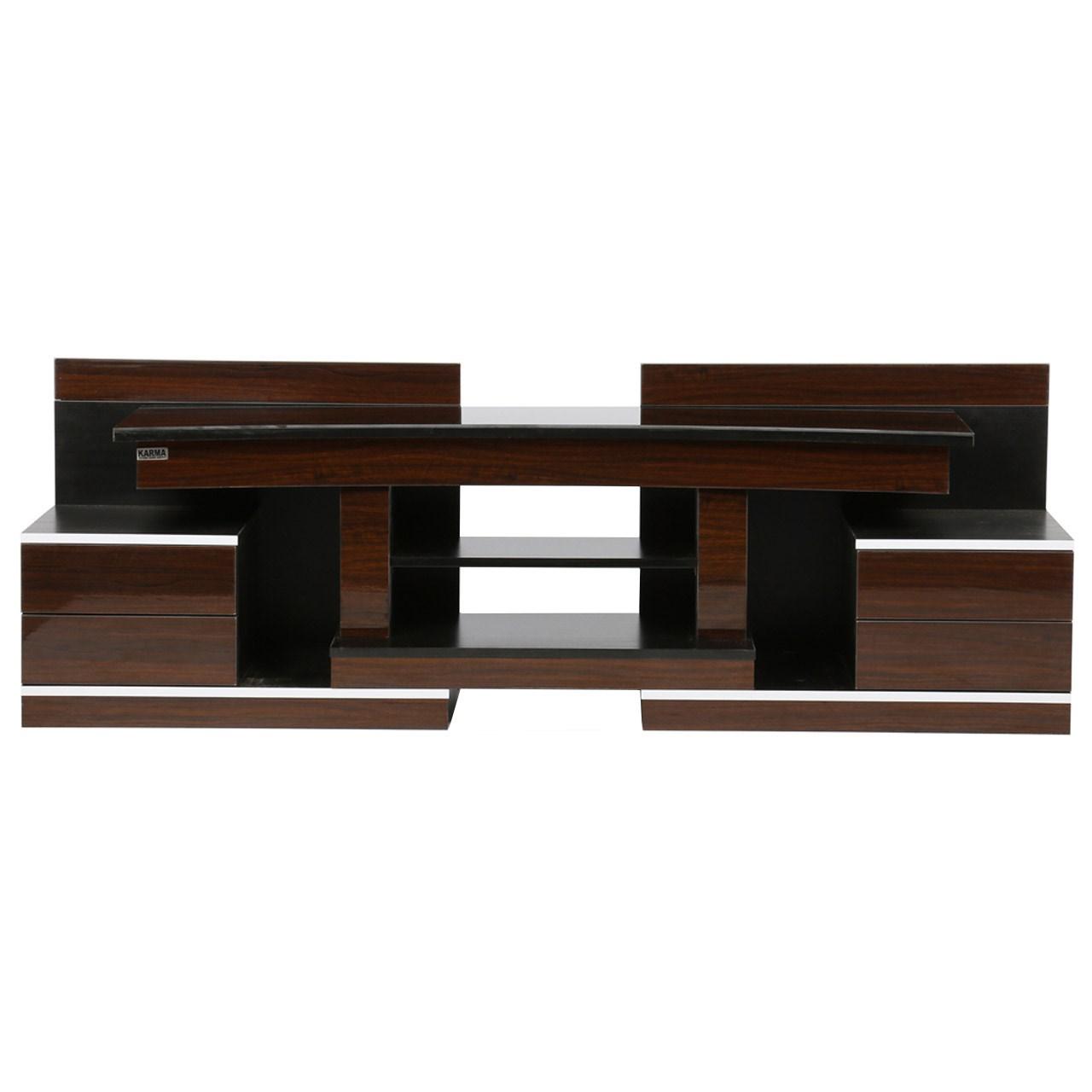 میز تلویزیون کارما چوب مدل M110 رنگ قهوهای