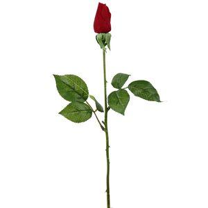 گل مصنوعی هومز طرح رز غنچه قرمز مدل 25101 مجموعه 4 عددی