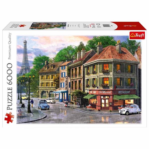 پازل 6000 تکه ی ترفل - خیابانی از پاریس.  برابر کیفیت ادوکا، ravensburger, Educa