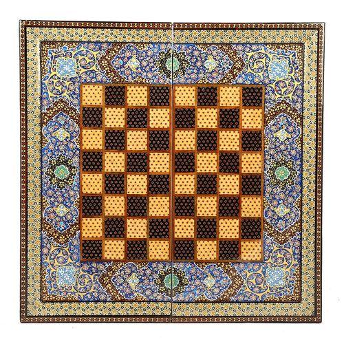 صفحه شطرنج خاتم کاری گالری گوهران مدل مینیاتور -1220