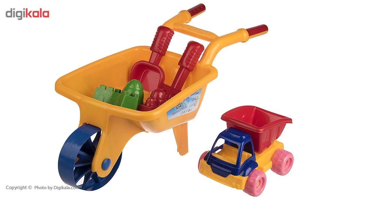 ست شن بازی زرین تویز مدل Super Wheelbarrows E11