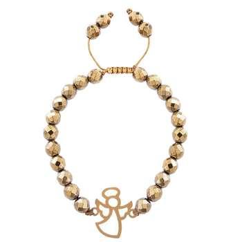 دستبند طلا 18 عیار مرجان مدل 0779