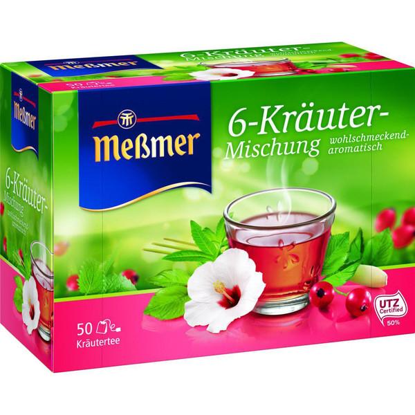 بسته دمنوش 6 گیاه  مسمر  مدل 6 Krauter-بسته 50 عددی