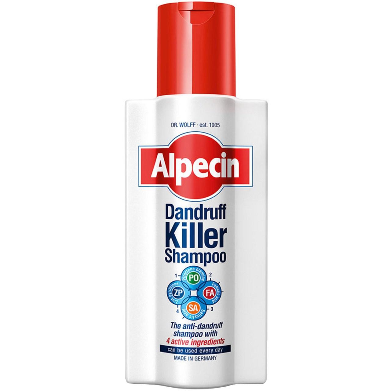 شامپو ضد شوره سر آلپسین مدل Dandruff Killer حجم 250 میلی لیتر