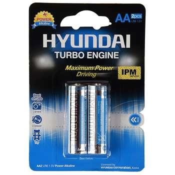 باتری قلمی هیوندای مدل Power Alkaline بسنه 2 عددی
