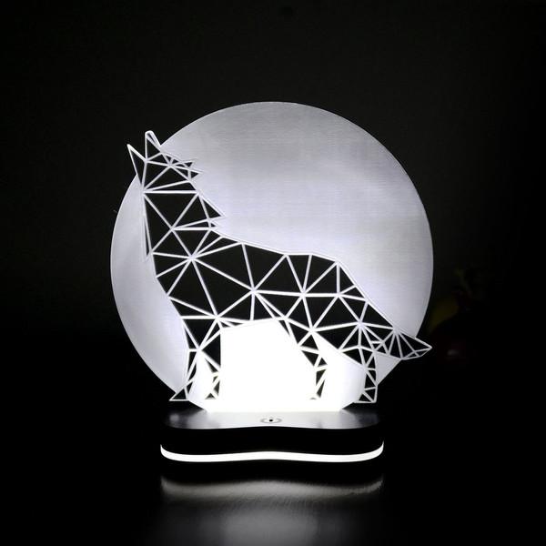 چراغ خواب سه بعدی گالری دکوماس طرح گرگ کد DMS146
