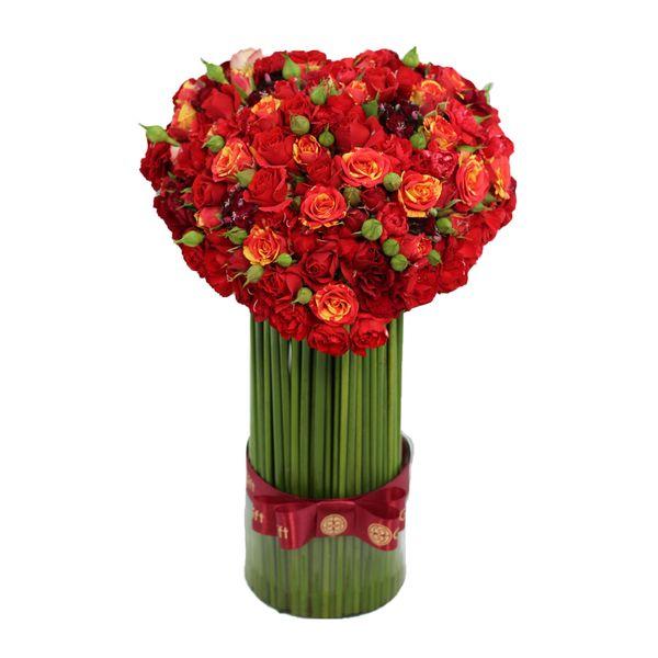 تنگ گل رز مینیاتوری گل گیفت کد GG007