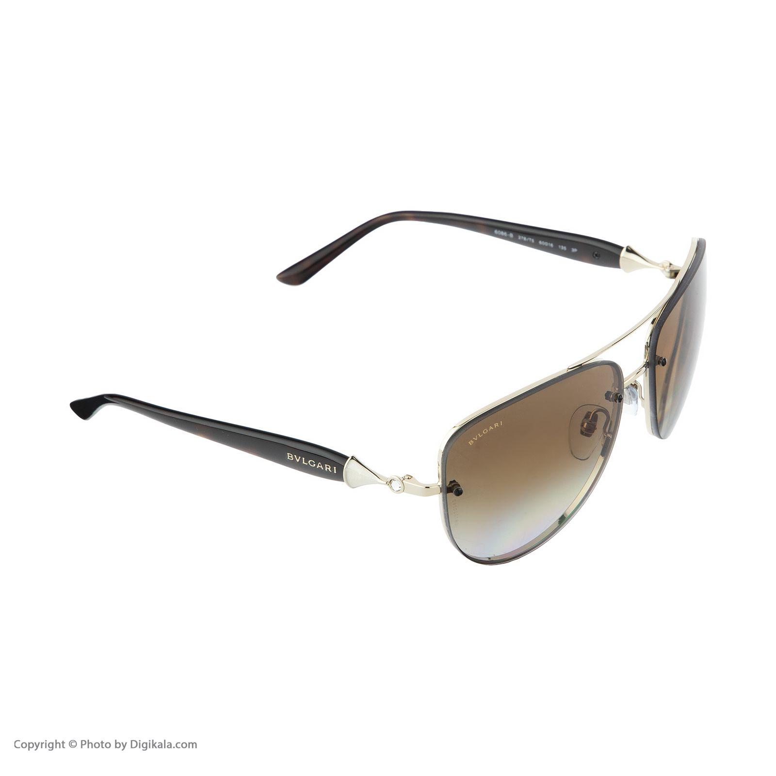عینک آفتابی مردانه بولگاری مدل BV6086B 0278T5 -  - 4