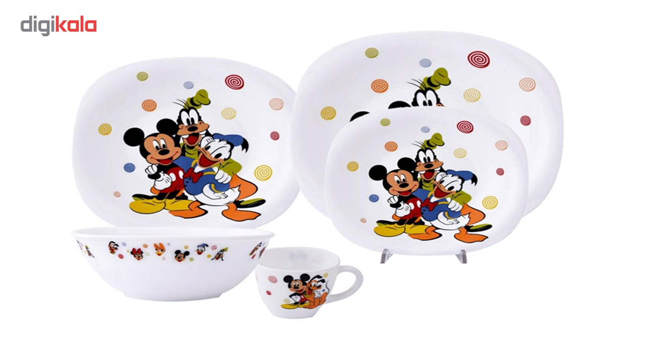 سرویس غذاخوری 5 پارچه کودک پارس اوپال طرح Micky Mouse