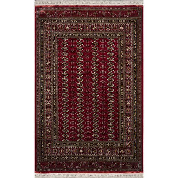 فرش ماشینی زمرد مشهد طرح 20001 زمینه قرمز
