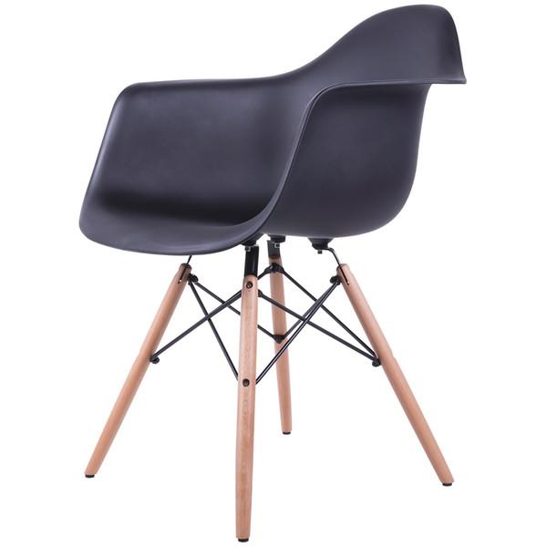 صندلی کروماتیک مدل Black Armchair Wood Legs