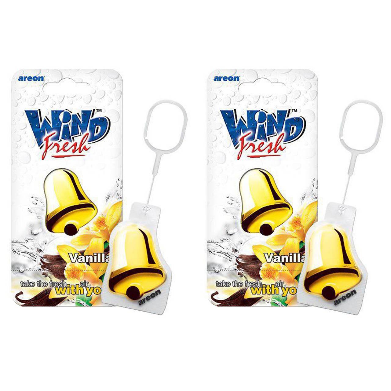 خوشبو کننده ماشین آرئون مدل Wind Fresh Vanilla بسته 2 عددی