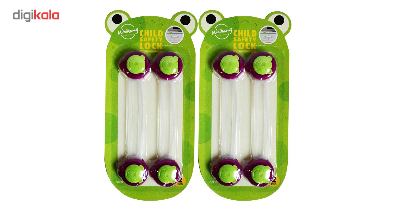 قفل کابینت مدل Jc0503 بسته 4 عددی