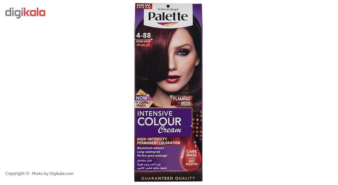 کیت رنگ موی پلت سری Intensive مدل Intensive Dark Red شماره 88-4  Palette Intensive Medium Brown Ha