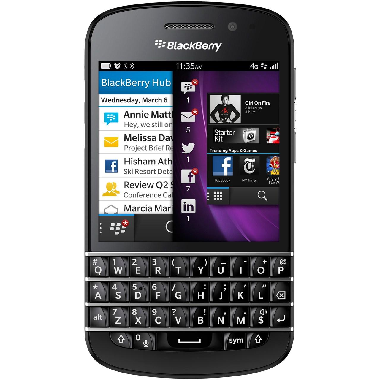 گوشی موبایل بلک بری مدل Q10 RFM121LW