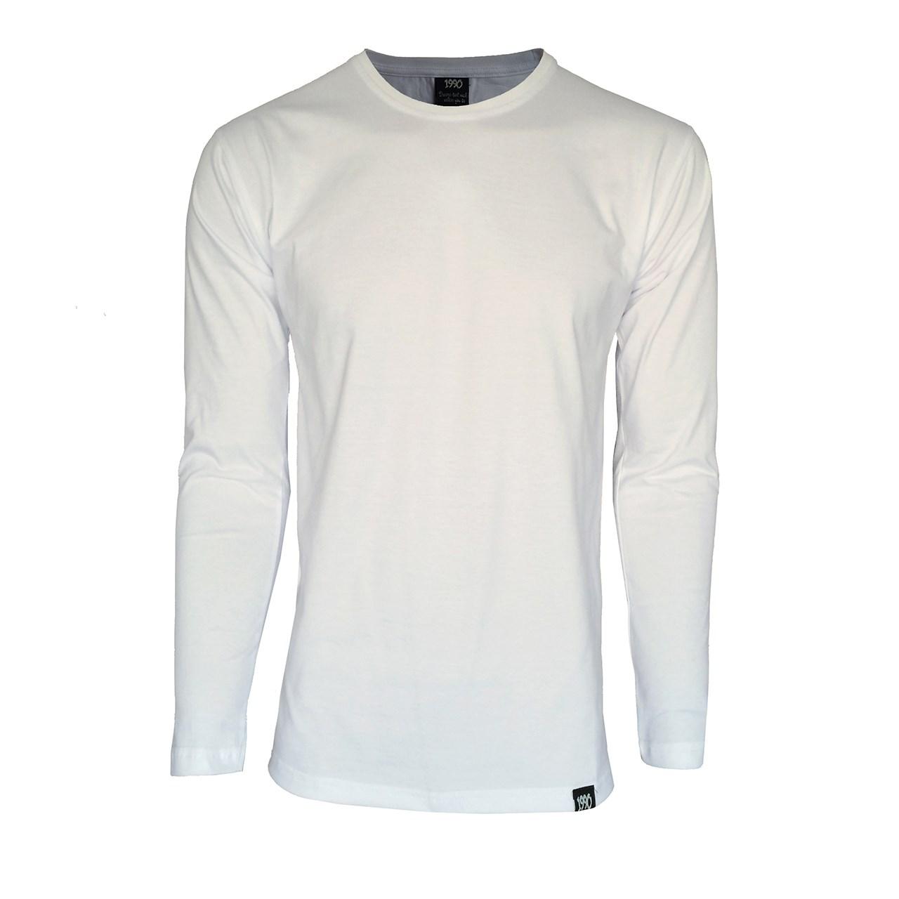 قیمت تی شرت آستین بلند مردانه 1991 اس دبلیو مدل 001 White