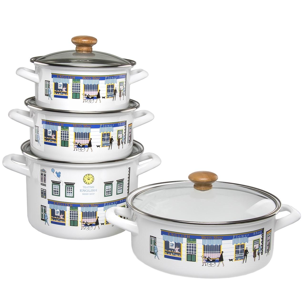 سرویس پخت و پز 8 پارچه رومنس طرح انگلیسی مدل 10400
