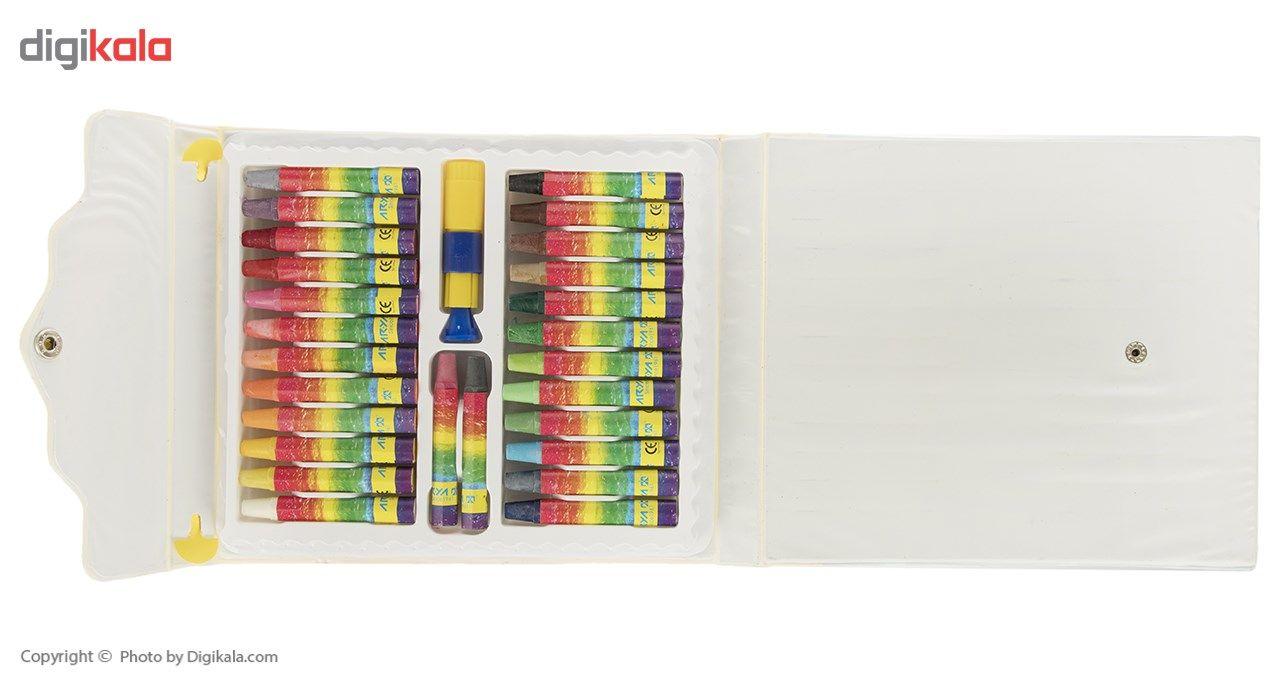 پاستل روغنی 2+24 رنگ آریا مدل 2041 main 1 2