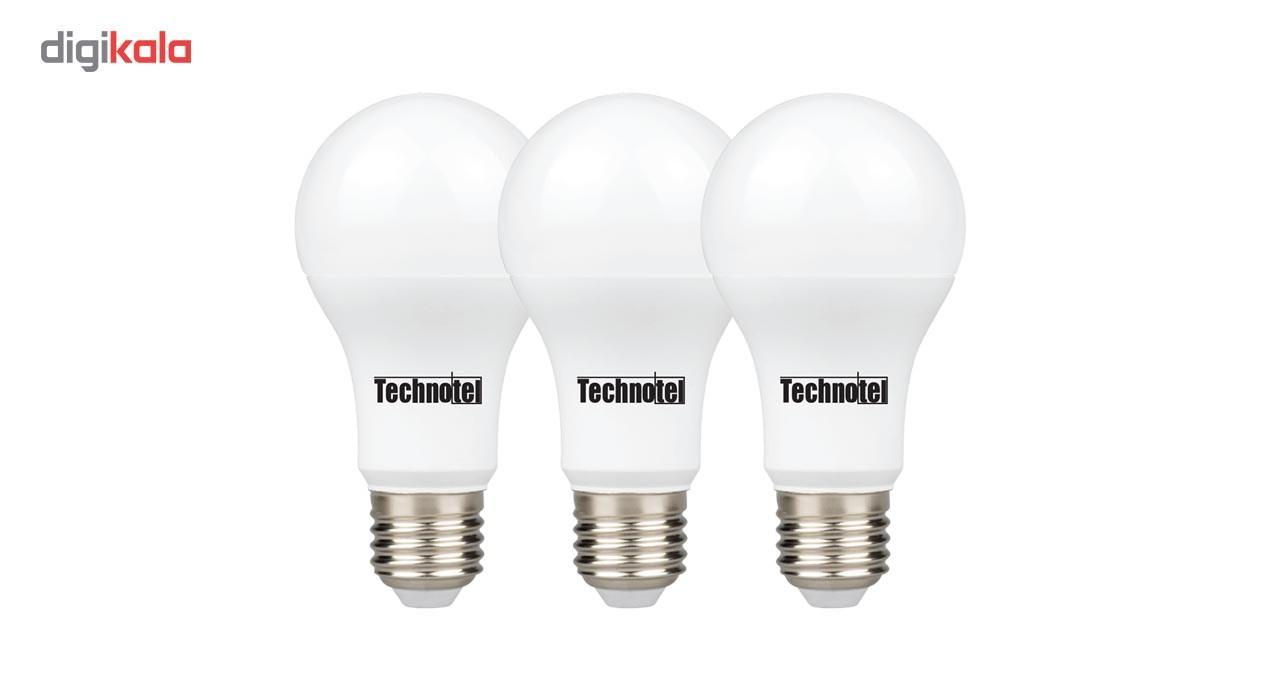 لامپ ال ای دی 12 وات تکنوتل مدل 312 پایه E27 بسته 3 عددی main 1 1