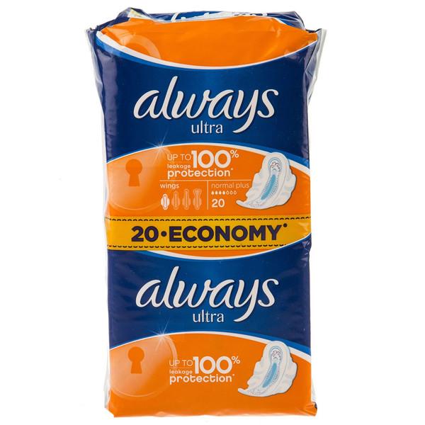 پک نوار بهداشتی قطر نازک الویز مدل Normal Plus بسته 20 عددی