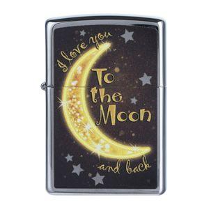 فندک زیپو مدل Golden Moon