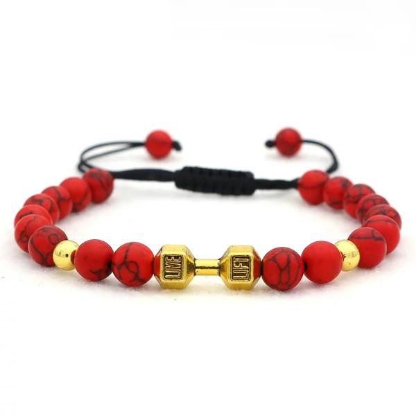 دستبند جینا طرح دمبل کد JBUG-006