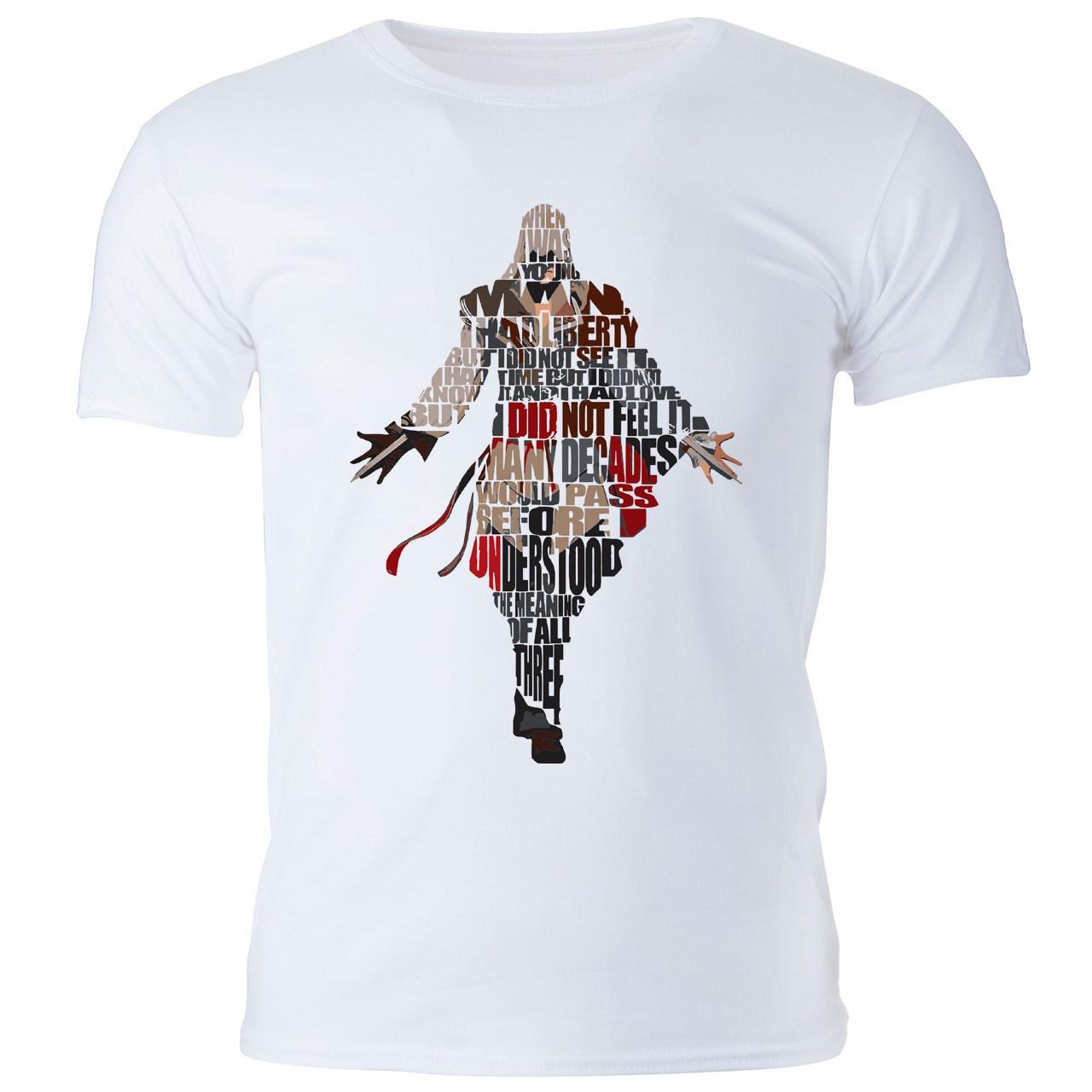 تی شرت مردانه گالری واو طرح Assassin s Creed، Ezio I کد CT10214