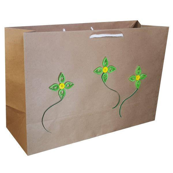 پاکت هدیه افقی طرح گل ملیله MRK4