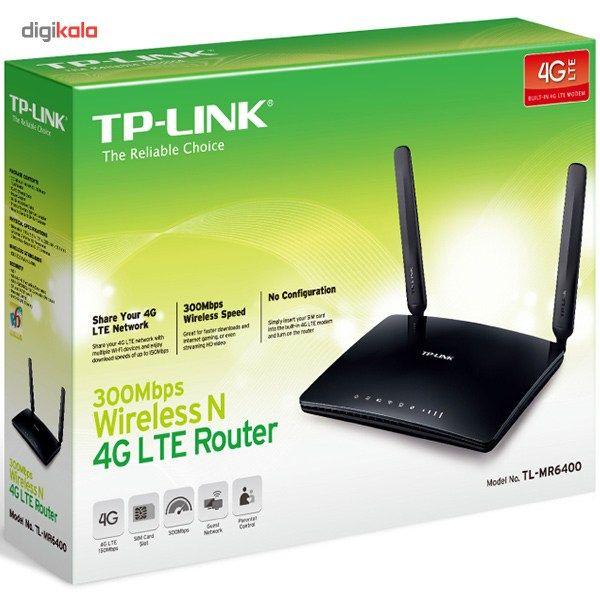 مودم روتر 4G LTE بی سیم N300 تی پی-لینک مدل TL-MR6400 main 1 3