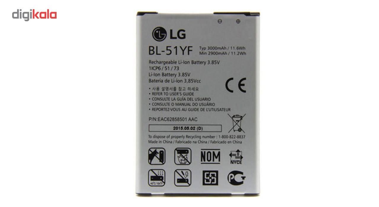 باتری موبایل مدل BL-51YF با ظرفیت 3000Mah مناسب برای گوشی موبایل ال جی G4 main 1 1