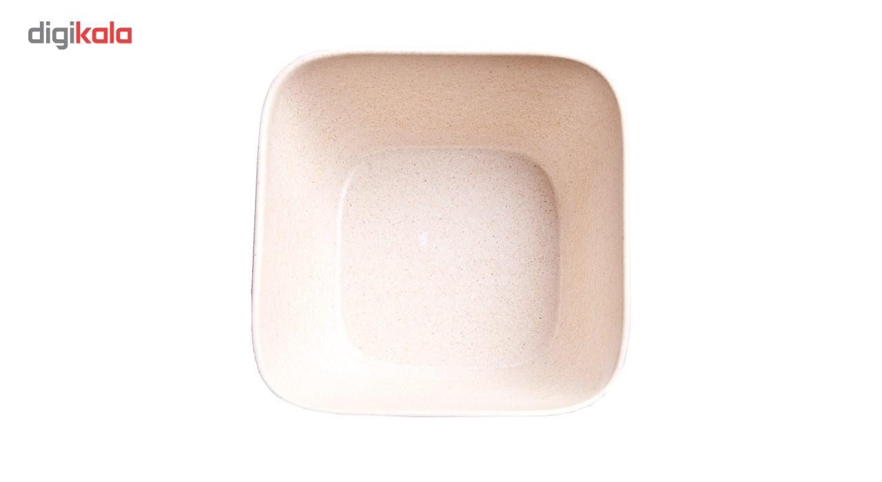 کاسه مربع بامبو فیبر مدل 102524- بسته 6 عددی