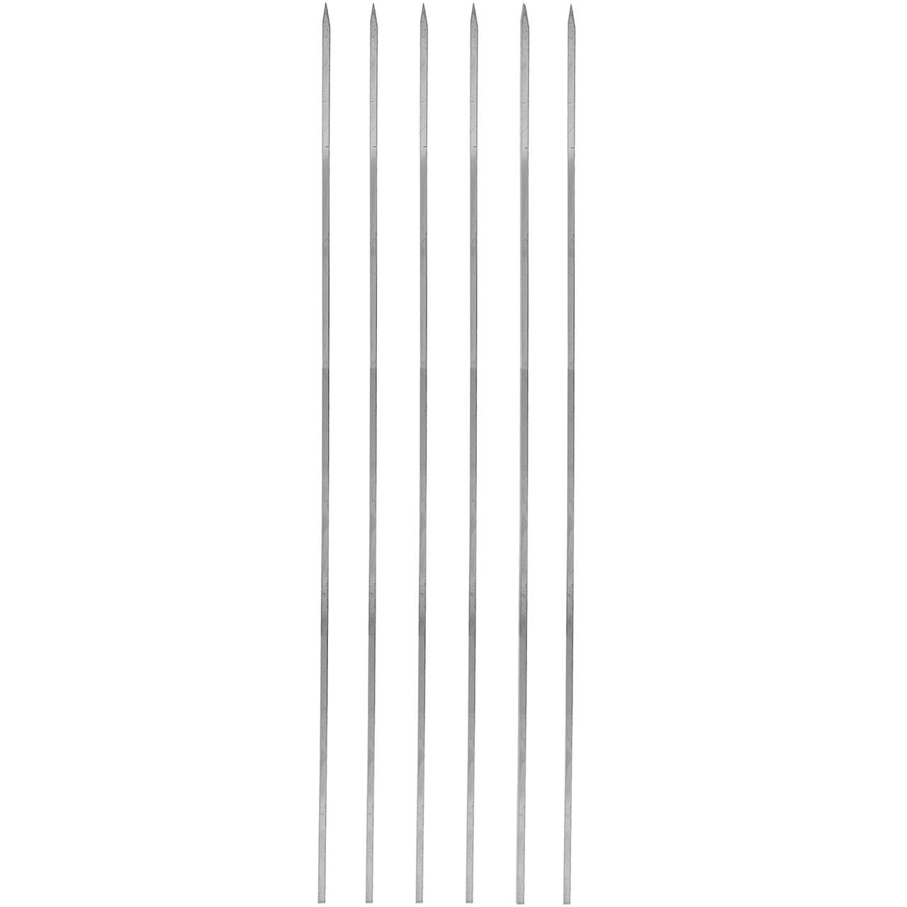 سیخ استیل جگر مدل ساده بسته 6 عددی