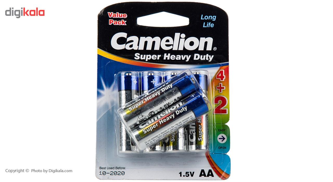باتری قلمی کملیون مدل Super Heavy Duty بسته 6 عددی