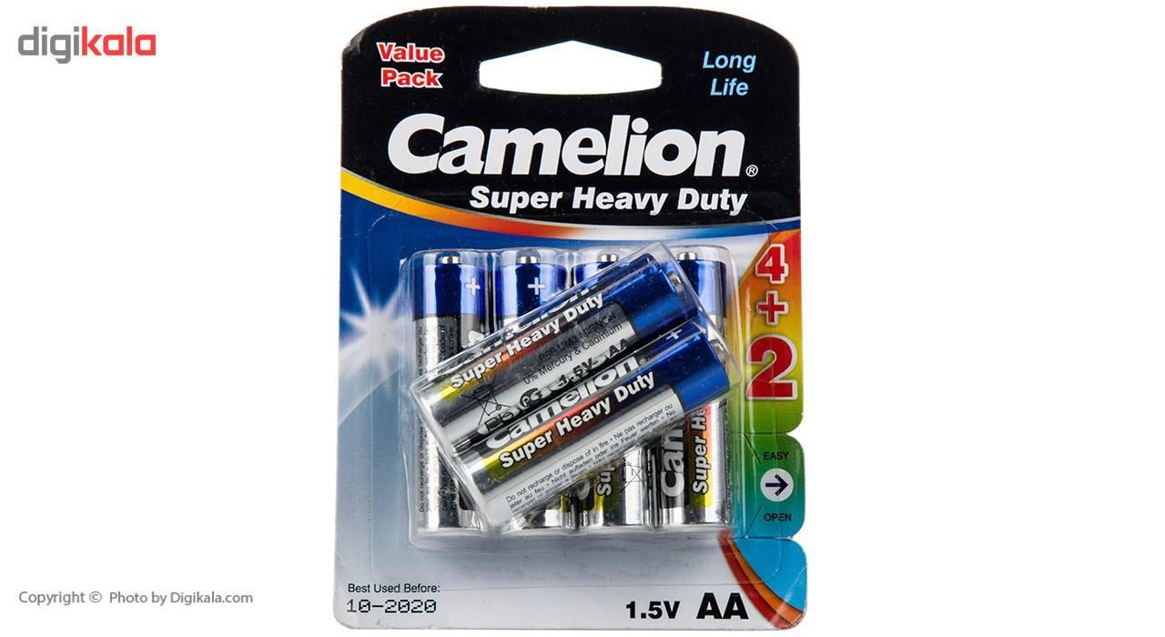 باتری قلمی کملیون مدل Super Heavy Duty بسته 6 عددی main 1 1