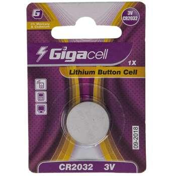 باتری سکه ای لیتیومی گیگاسل مدل CR2032 بسته 1 عددی