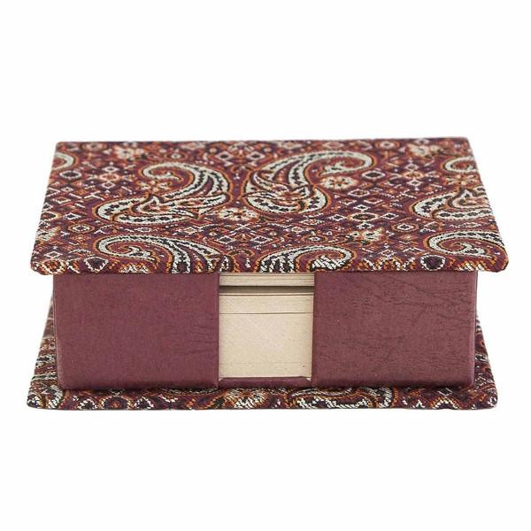 جعبه کاغذ یادداشت ترمه سنا کد 115024 طرح گل قرمز
