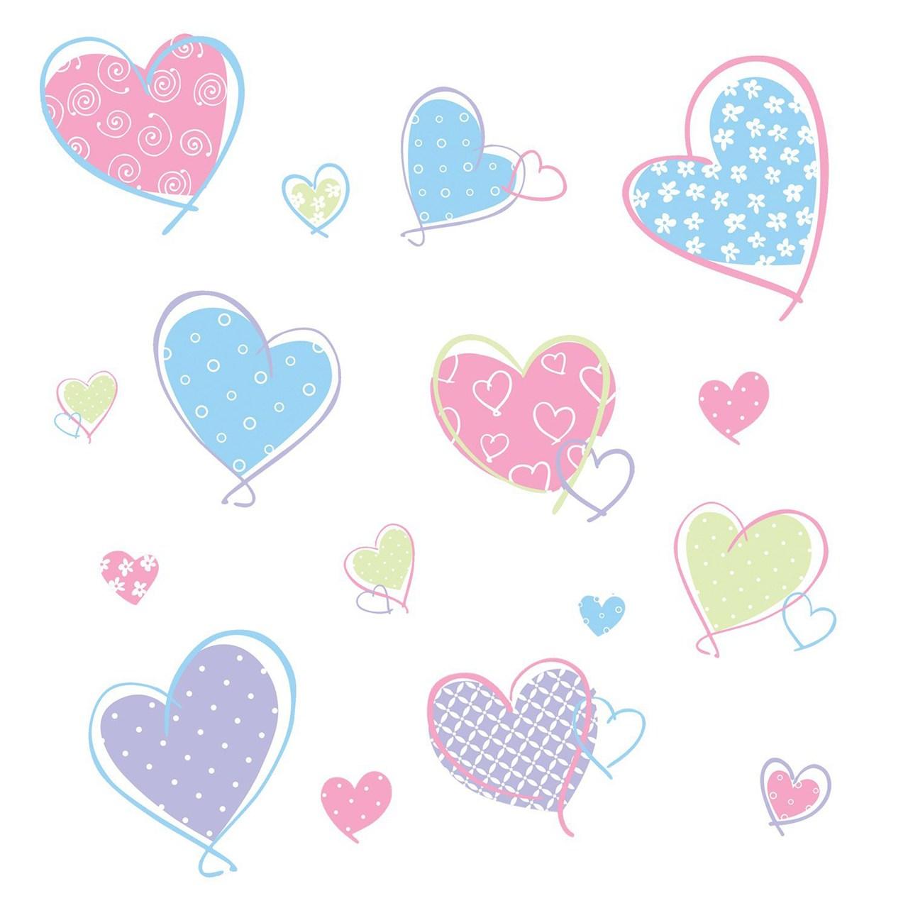 استیکر رومیت مدل Hearts Appl