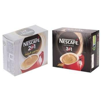 پودر قهوه فوری 1 × 3 اینتسو نسکافه بسته 20 عددی به همراه پودر قهوه فوری 1 × 2 نسکافه بسته 20 عددی