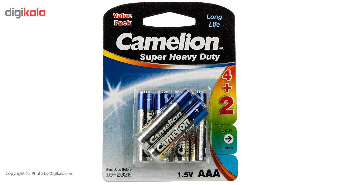 باتری نیم قلمی کملیون مدل Super Heavy Duty بسته 6 عددی main 1 1