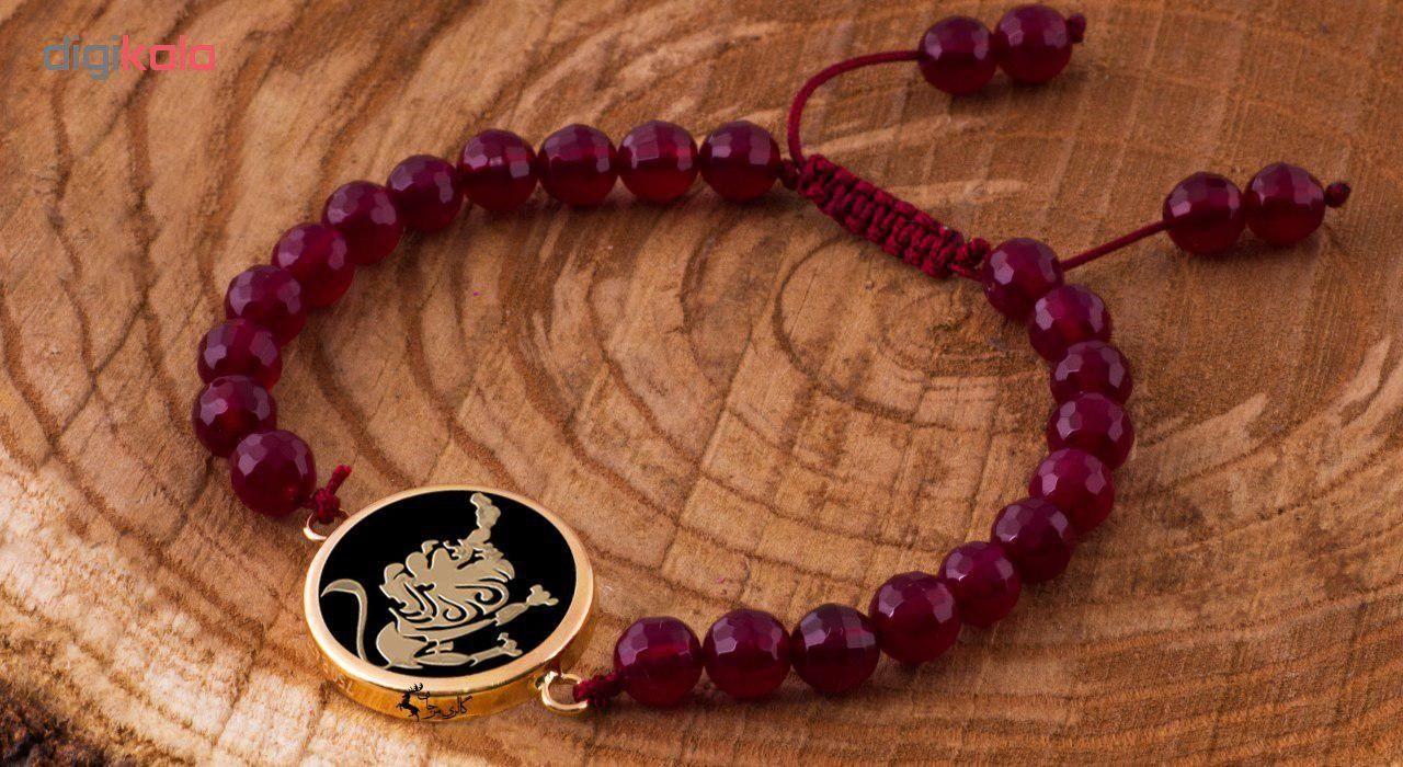 دستبند طلا 18 عیار مرجان مدل0600