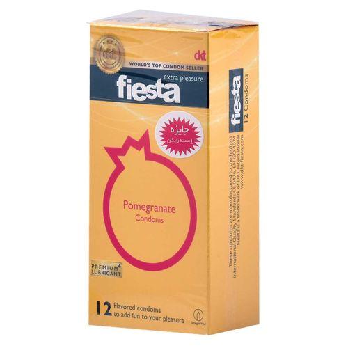 کاندوم انار تنگ کننده واژن فیستا مدل Pomegranate بسته 12 عددی